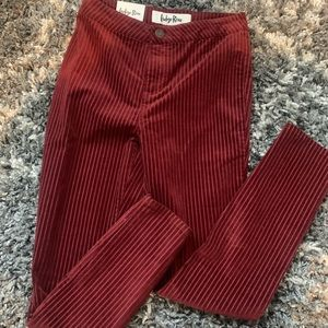 NWT vintage style striped skinny jeans